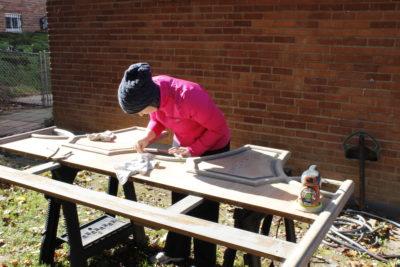 Sara refurbishing headboard