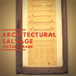 Architectural salvage picture frame (1)
