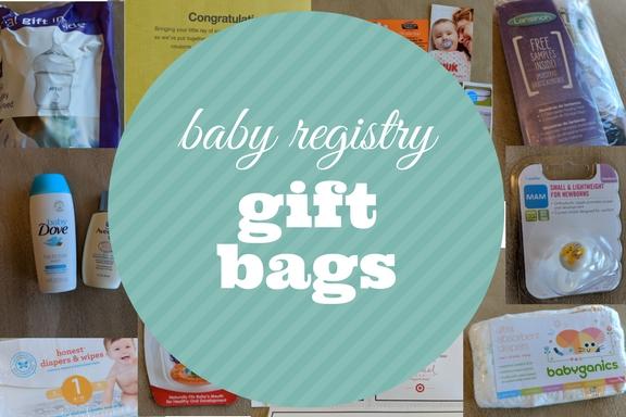 Baby registry gift bags