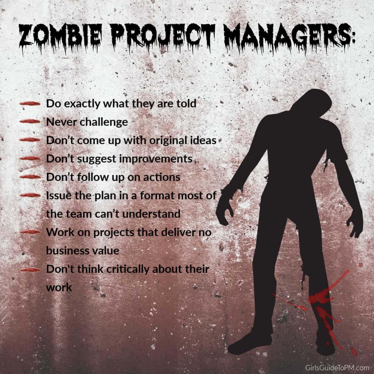 rasgos de los gerentes de proyecto zombie
