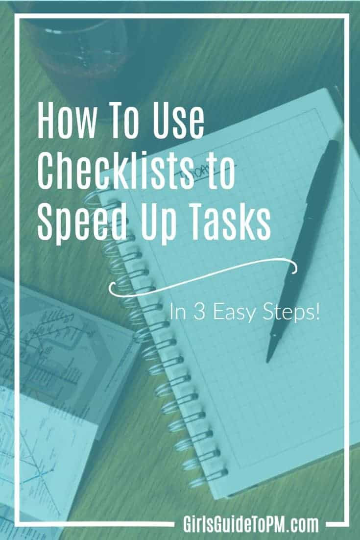Cómo usar las listas de verificación para acelerar las tareas
