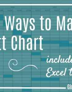 Free gantt chart excel template also easy ways to make   girl  rh girlsguidetopm