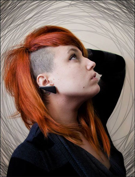 30 New One Sided Shaved Hairstyles & Haircuts For Girls & Women