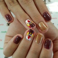 25+ Thanksgiving Nail Art Designs, Ideas & Stickers For ...