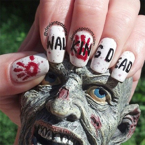 18 Zombie Nail Art Designs Ideas Stickers For