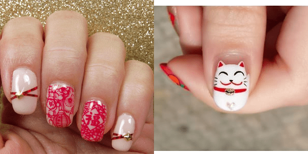 Cny Nails Elegant Nail Art