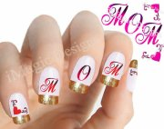 mother's day nail art 2016 design