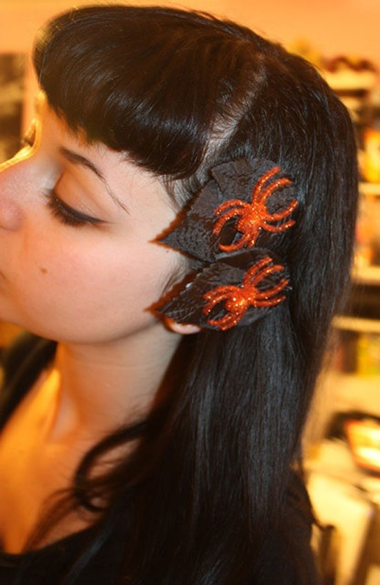 10  Scary Yet Creative Halloween Hair Bows Clips  Headbands 2012 For Girls  Kids  Girlshue