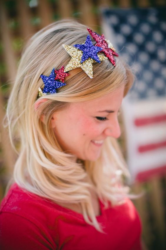 Independence Day Hair Accessories For Kids And Adults 2016