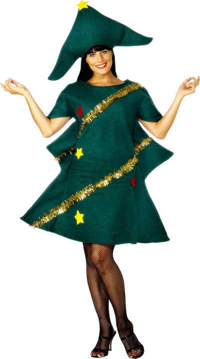 Home Made Christmas Tree Costume Ideas For Women 2013