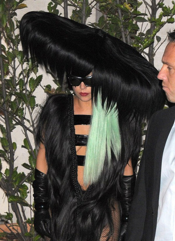 30 Pictures Of Lady Gaga Crazy Hairstyles Wigs  Bow Hair Ideas  Girlshue