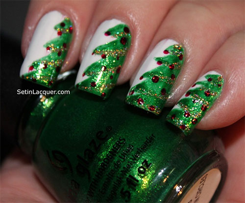 Christmas Tree Nail Art Designs Ideas 13