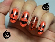 scary halloween nail art design
