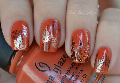 Latest Autumn Nail Art Designs Trends Fashion For