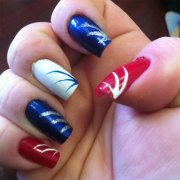 amazing 4th of july nail art