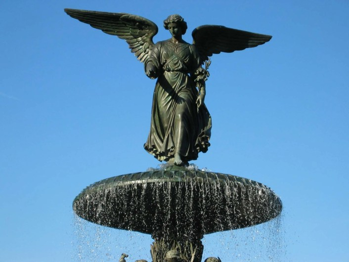 image of angel of the waters, bethesda, terrace at central park, nyc