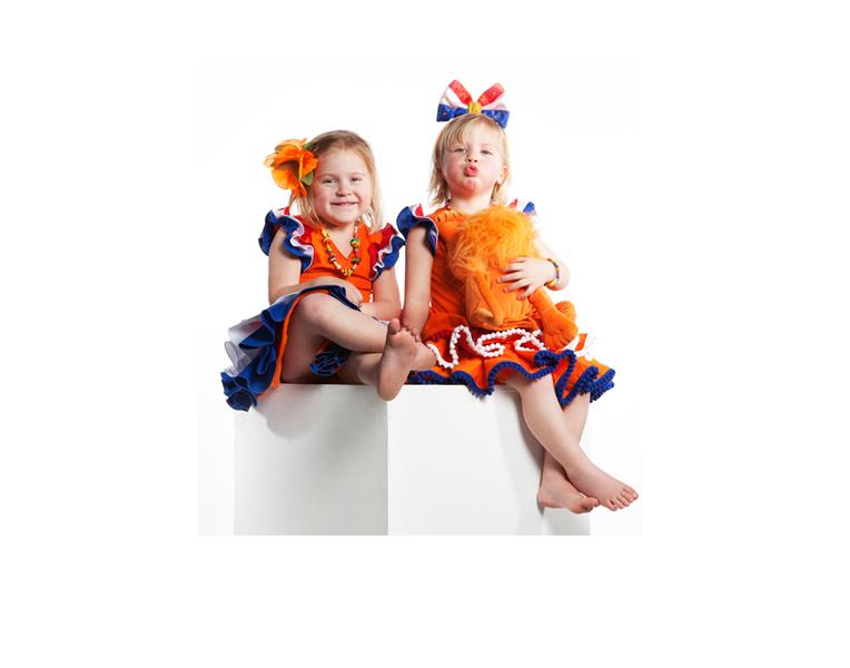 Hollandse jurken voor Hollandse meisjes leuk voor Koningsdag