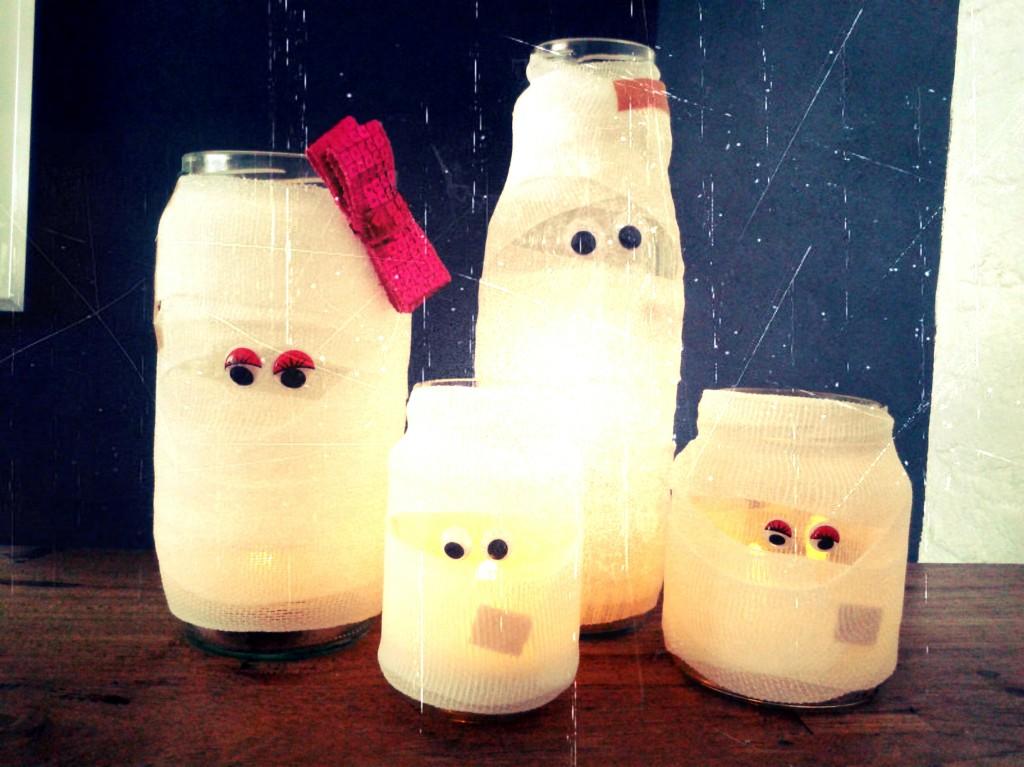 Halloween DIY l Knutsel lieve Halloween mummies
