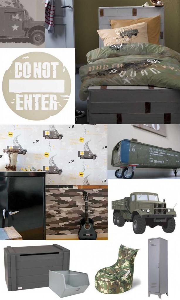 Stoere legerkamer en legerkamer accessoires  Stoere