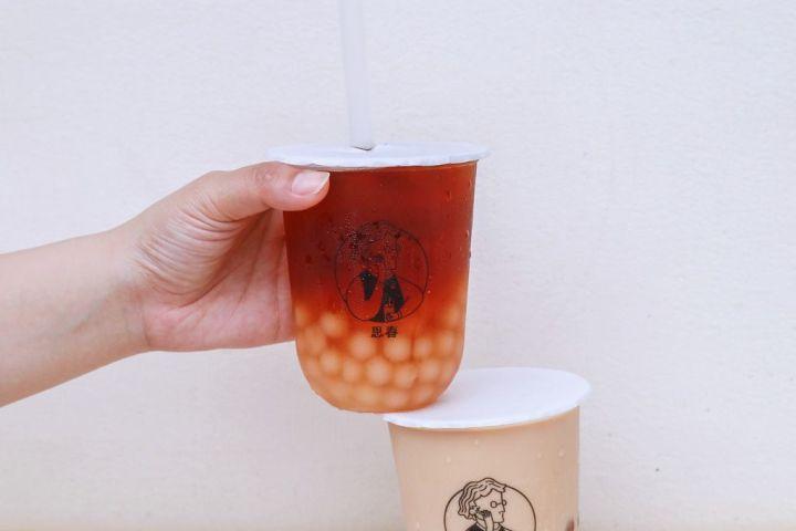 【台北飲料店】思春:夏日裡透心涼的滋味,是一口好茶外加一口滿足的白玉珍珠。 @女子的休假計劃