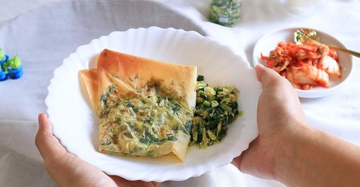 【生酮料理、低碳食譜】千張韭菜盒子料理 /愛料理 @女子的休假計劃