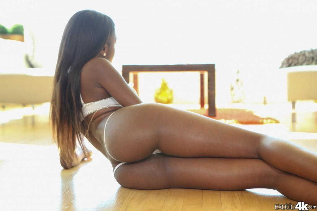 Armani Monae in Ebony Teen on Exotic4k