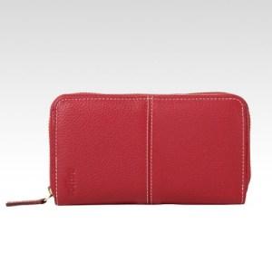 Toffee Zip around purse