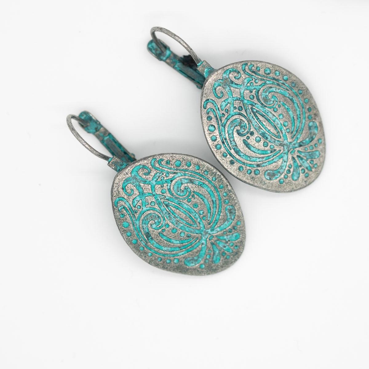 ORB-015 vintage oorbellen oud zilver