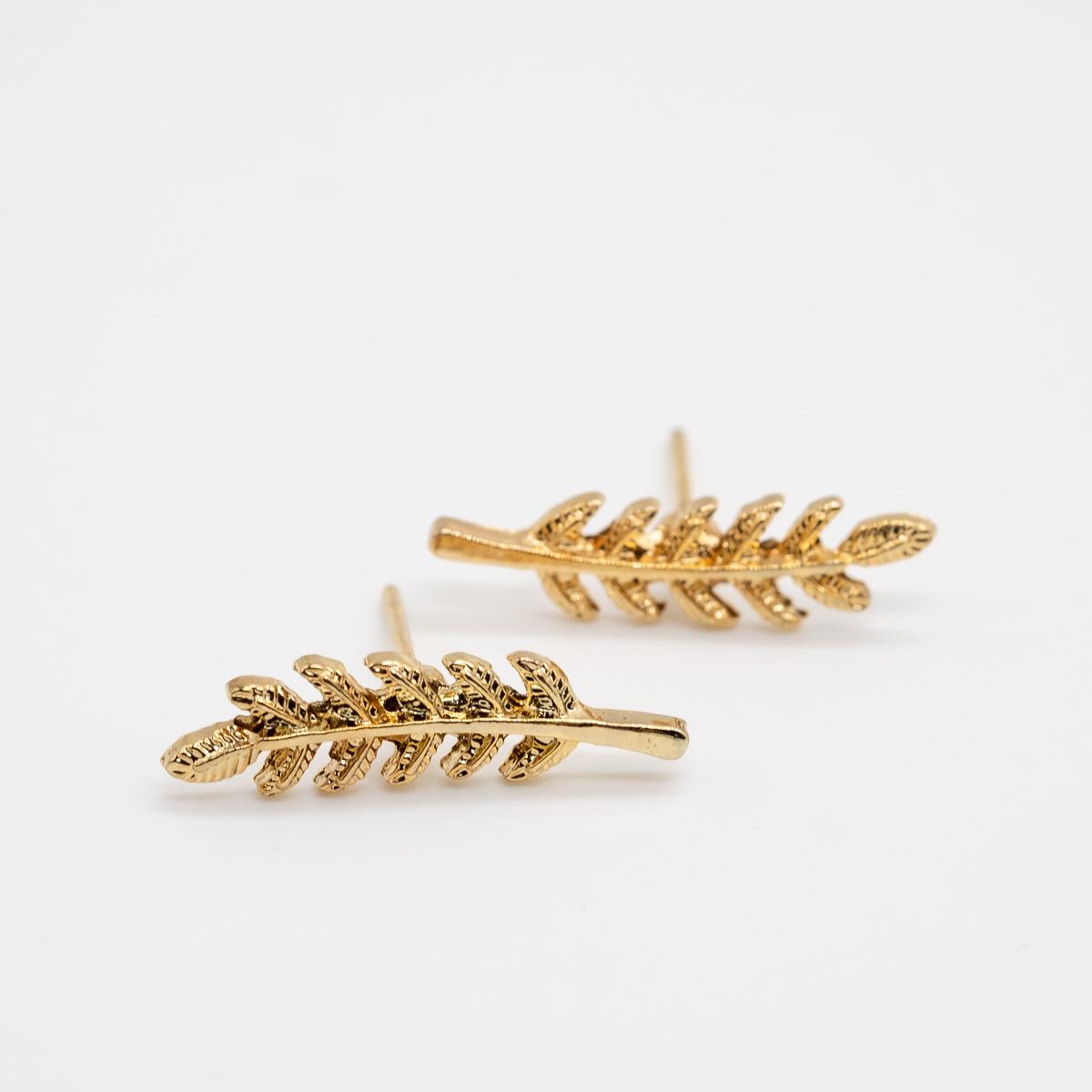 ORS-008 blaadjes goud oorstekers