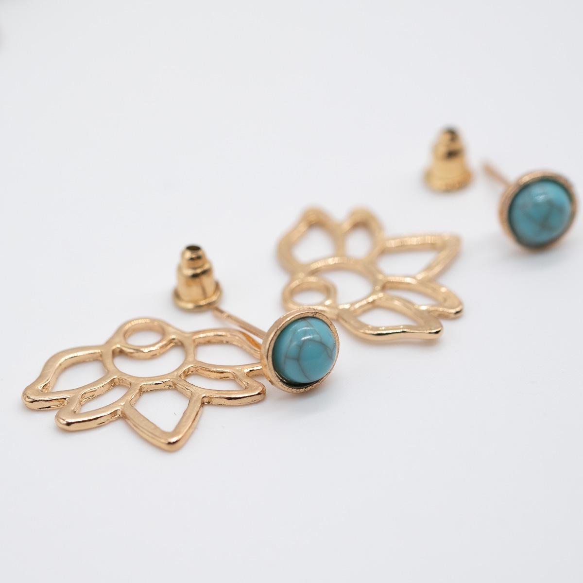 ORS-011 goud zilver oorstekers