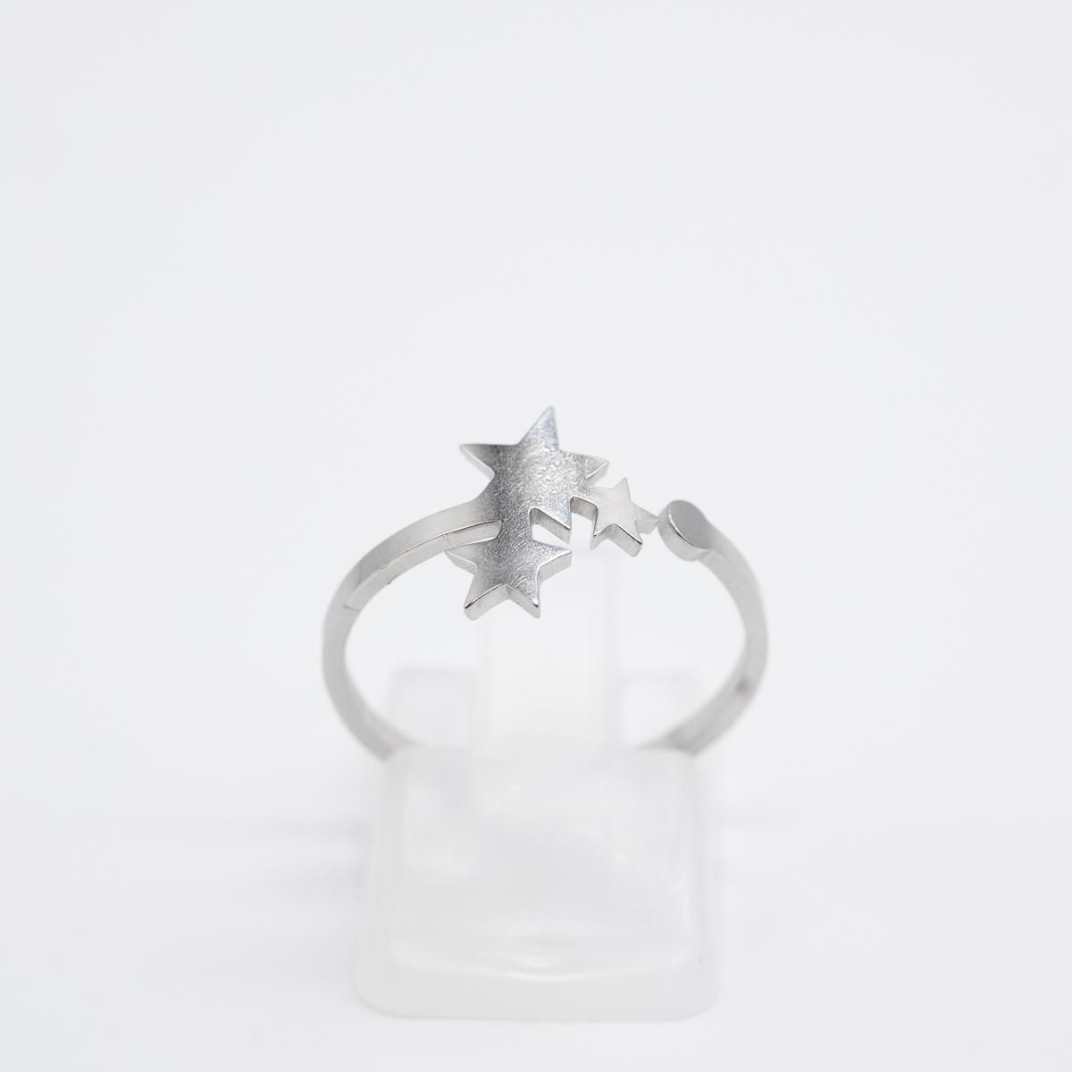 RNG-011 boho ring sterretjes zilver
