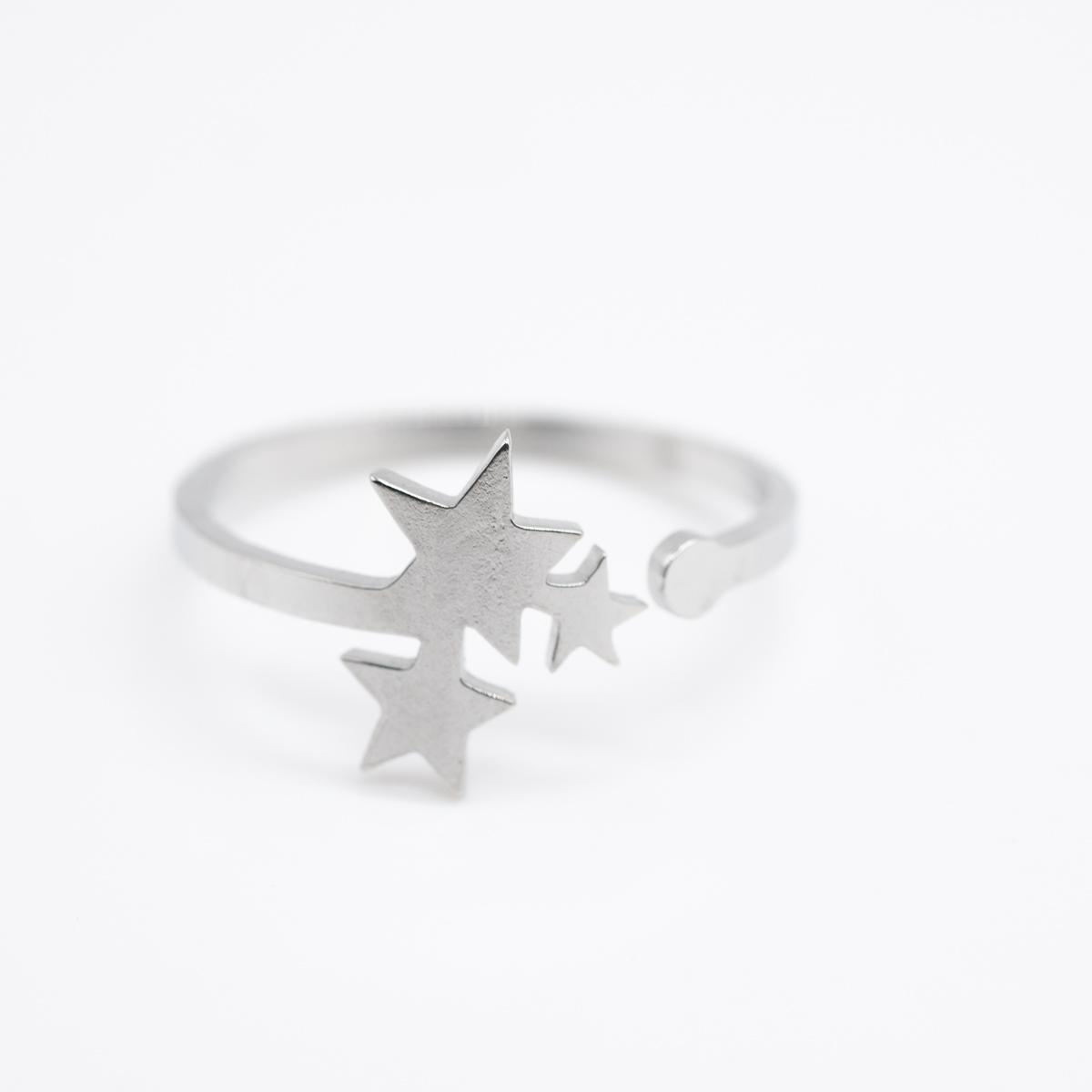 RNG-011 ring sterretjes zilver