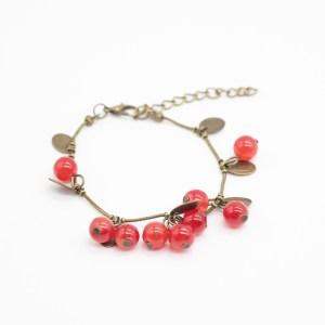 Armband rode glaskralen kopen bohemian