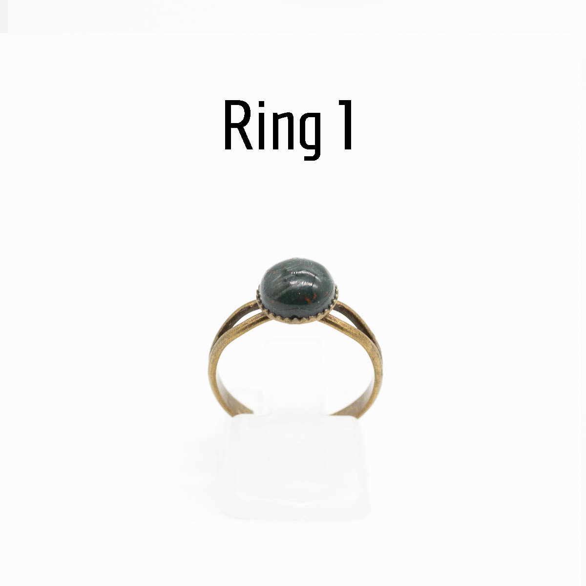RNG-019 groene jaspis ring type 1