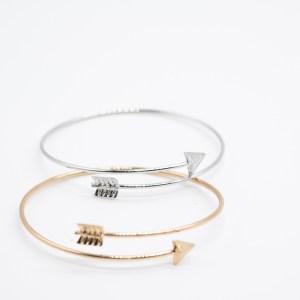 bohemian armband pijl goud zilver metaal