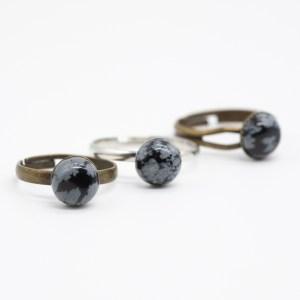 handgemaakte ring met obsidiaan kopen online webshop