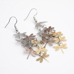 ibiza bohemian oorbellen met libellen