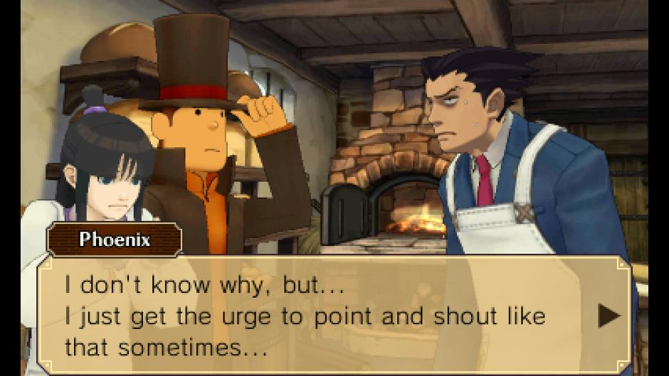 Professor Layton Vs. Phoenix Wright Screenshot