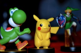 Amiibo Figurines: Yoshi, Pikachu and Link. Photo © Catherine Smith-Desbiens / Girls on Games