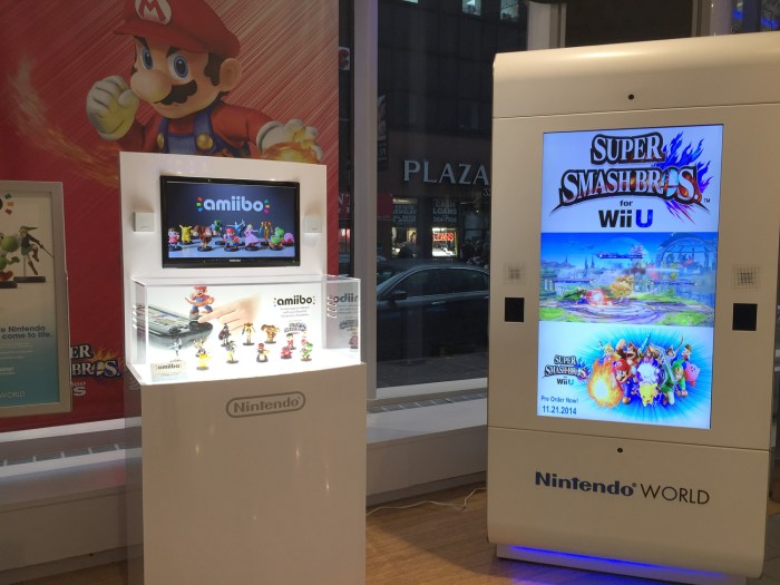 Amiibo display at the Nintendo World Store in NYC © Leah Jewer / Girls on Games