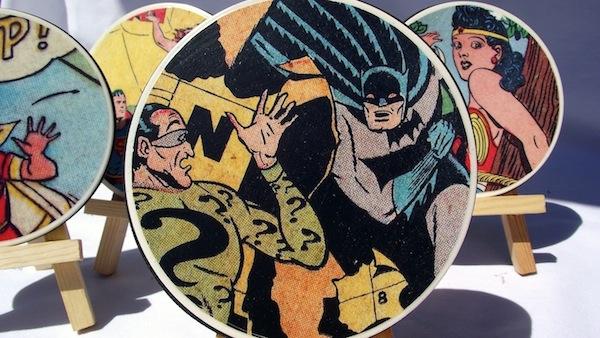 DIY comic book coasters by Mod Podge Rocks Blog