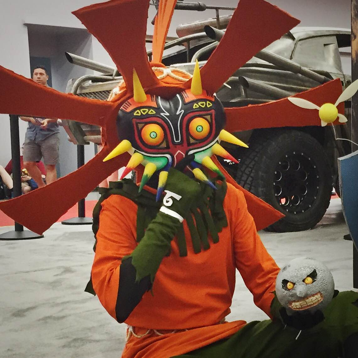 Skull Kid from Legend of Zelda: Majora's Mask Cosplay at Montreal Comiccon 2015 Photo © Leah Jewer / Girls on Games