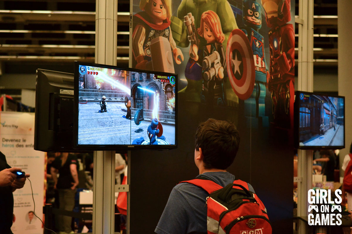 LEGO Marvel's Avengers at the WB Games booth