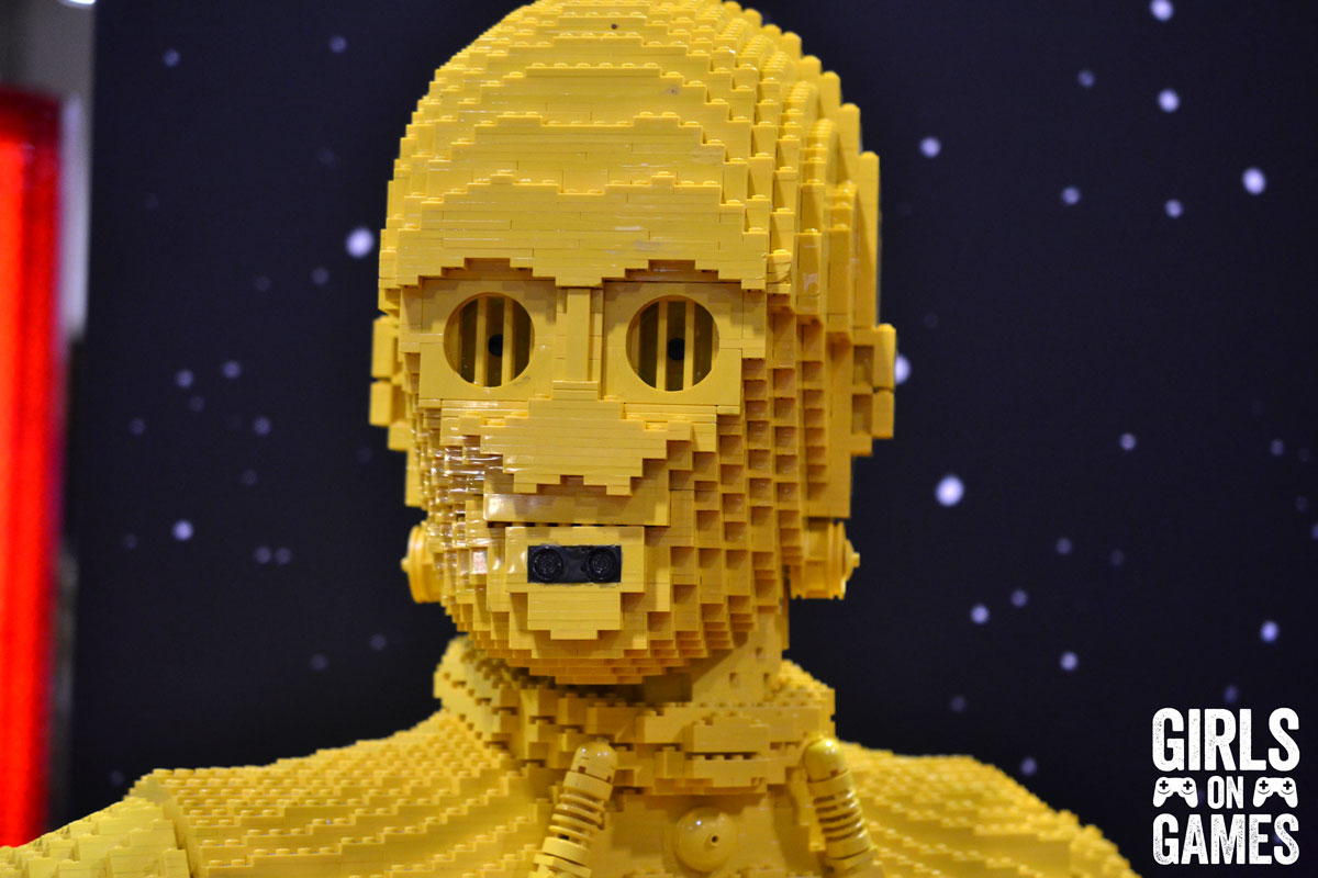 LEGO C3-PO at the LEGO booth at Fan Expo 2015.
