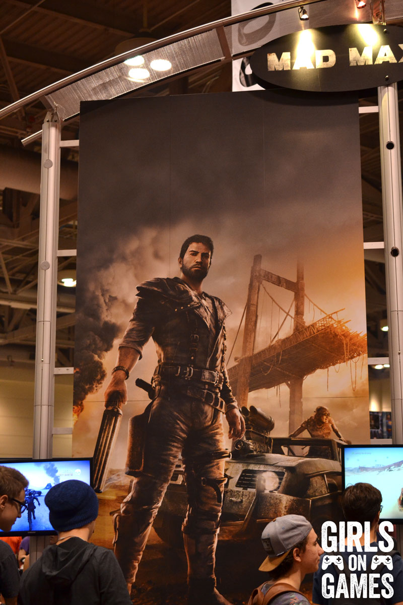 Mad Max at the WB Games booth at Fan Expo 2015
