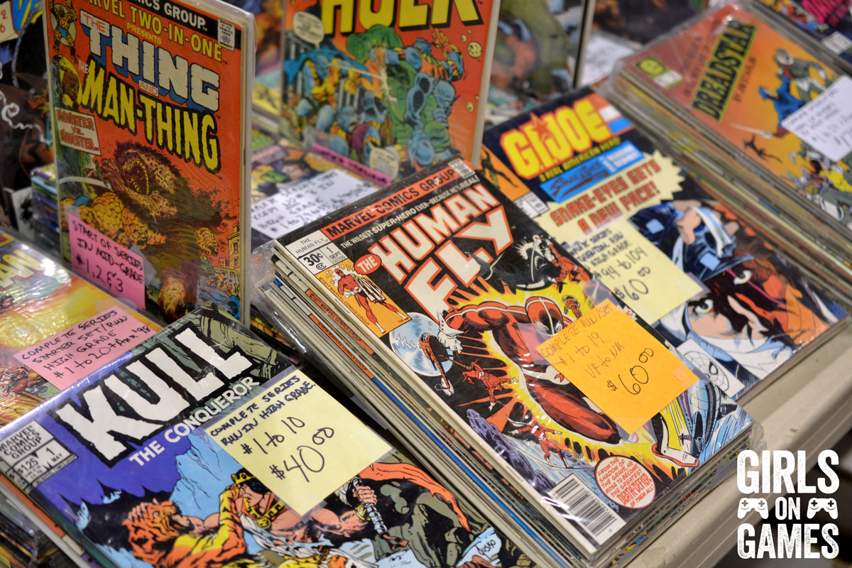 Vintage comics for sale at Fan Expo 2015