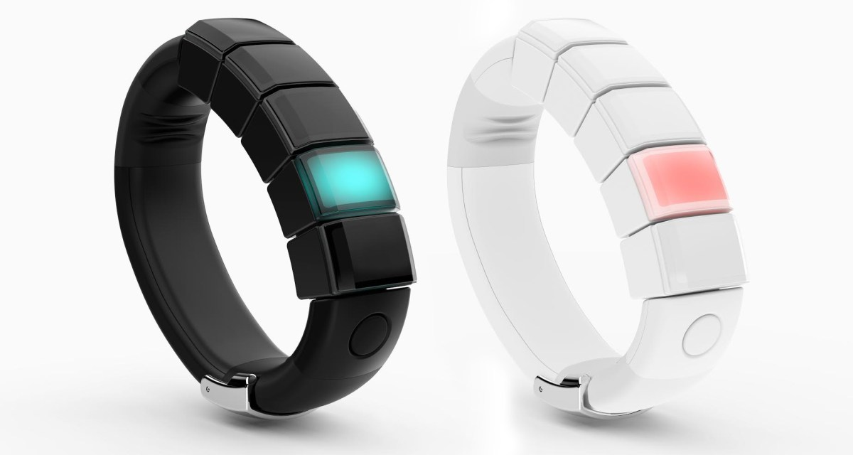 The Nex Band in white and black. Image from Mighty Cast Inc.