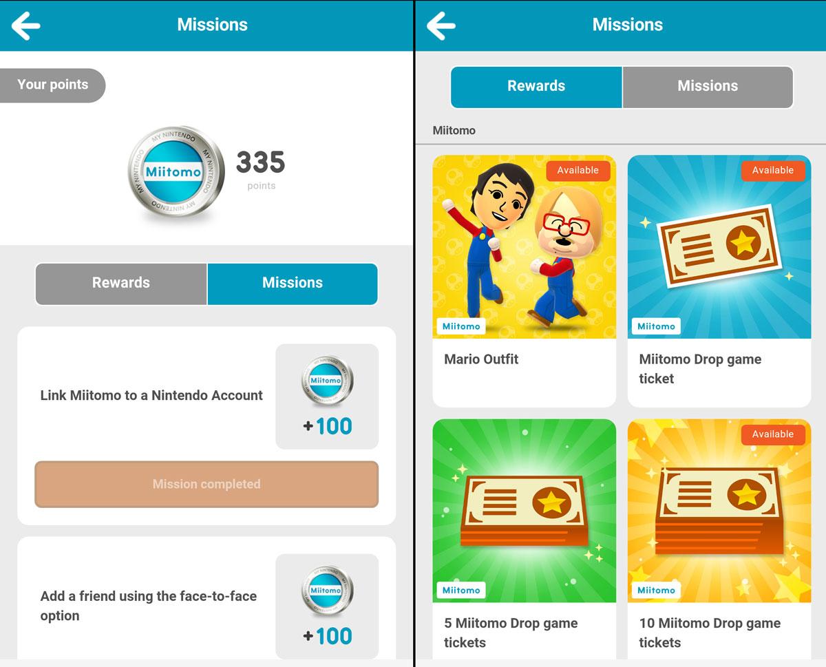 Miitomo Screenshots: Nintendo Missions and Rewards