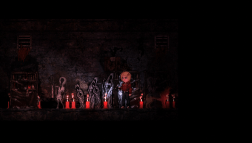 The faceless creatures in Claire