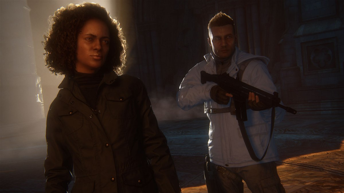 Nadine and a Shoreline Goon from Uncharted 4: A Thief's End. Image from Sony